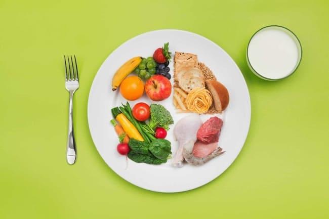 еда в тарелке